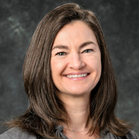 Studio portrait of Lisa Carter, vice provost for libraries and university librarian at the University of Wisconsin-Madison